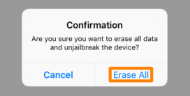 Erase All on Cydia Eraser